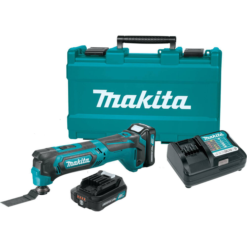 makita 12v cordless oscillating multi tool with batteries and charger mt01r1 ebay. Black Bedroom Furniture Sets. Home Design Ideas