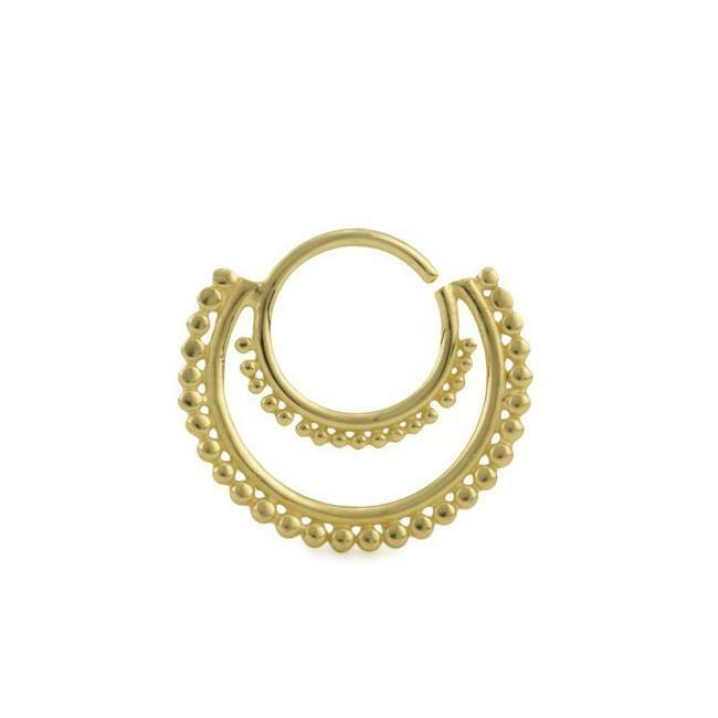 087bb44ad Details about 18KT Gold Plated Brass Bendable Septum Nose Ring Daith Ear Cartilage  Hoop 16G