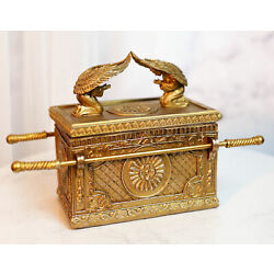 Kyпить Ark Of The Covenant W/ Two Cherubim Angels Judaic Decorative Box Figurine 9.5