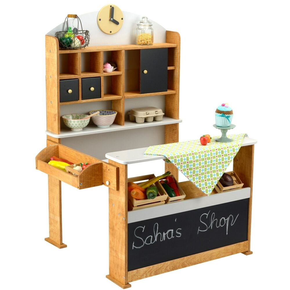 kaufladen aus holz kaufmannsladen verkaufsstand vintage marktstand kiosk kinder ebay. Black Bedroom Furniture Sets. Home Design Ideas