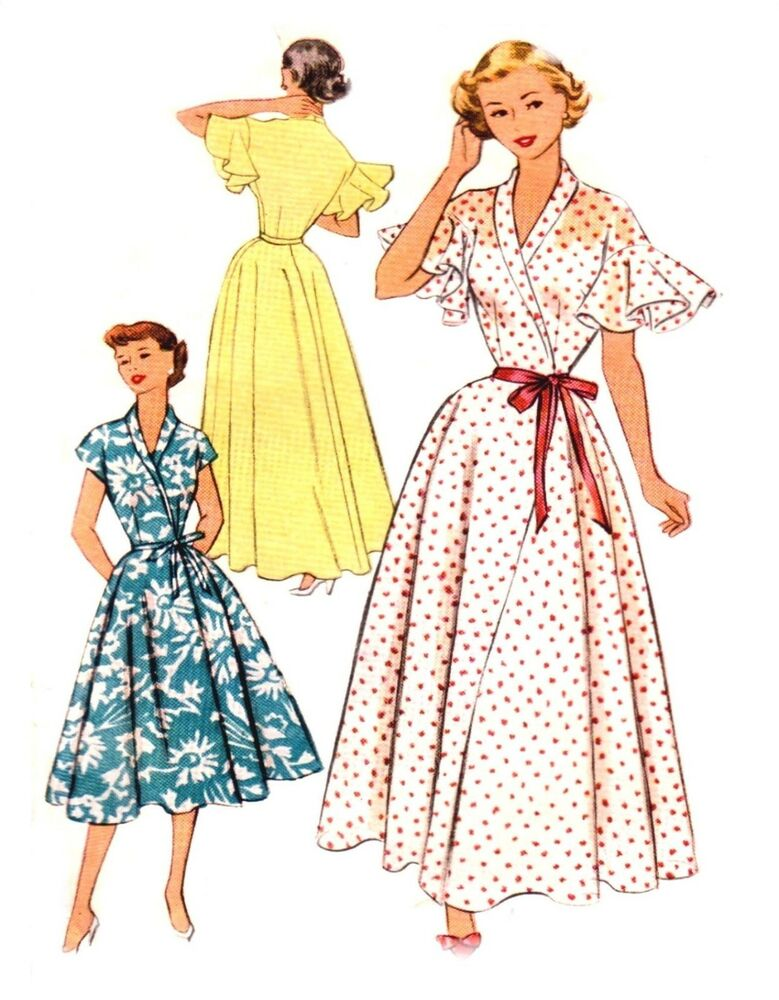 169 WRAP AROUND HOUSECOAT OR DRESS PATTERN FOR FASHION ...