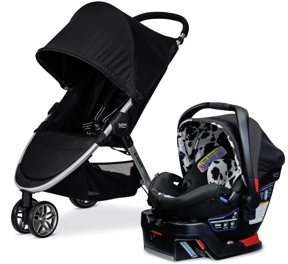 Britax double stroller with infant seat