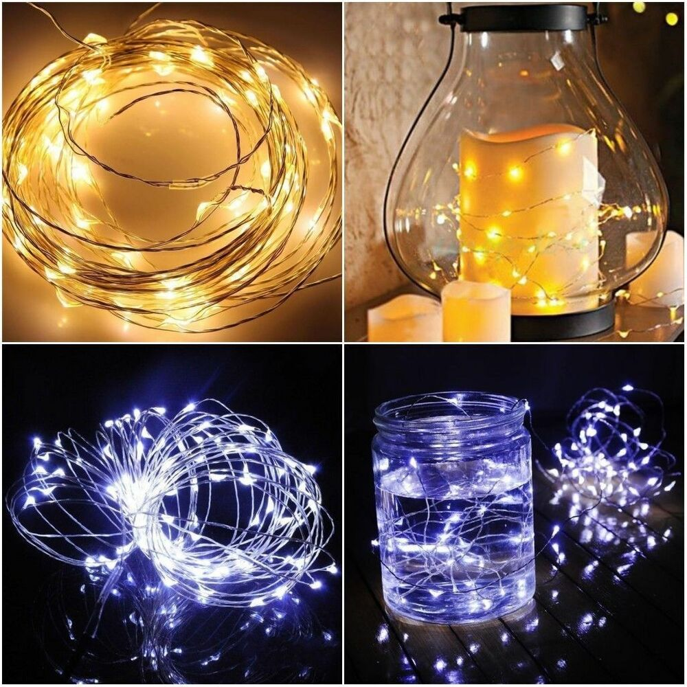 Battery Operated String Xmas Lights : 10-100 Leds String Fairy Light Battery Operated Xmas Lights Party Wedding 1-10m eBay
