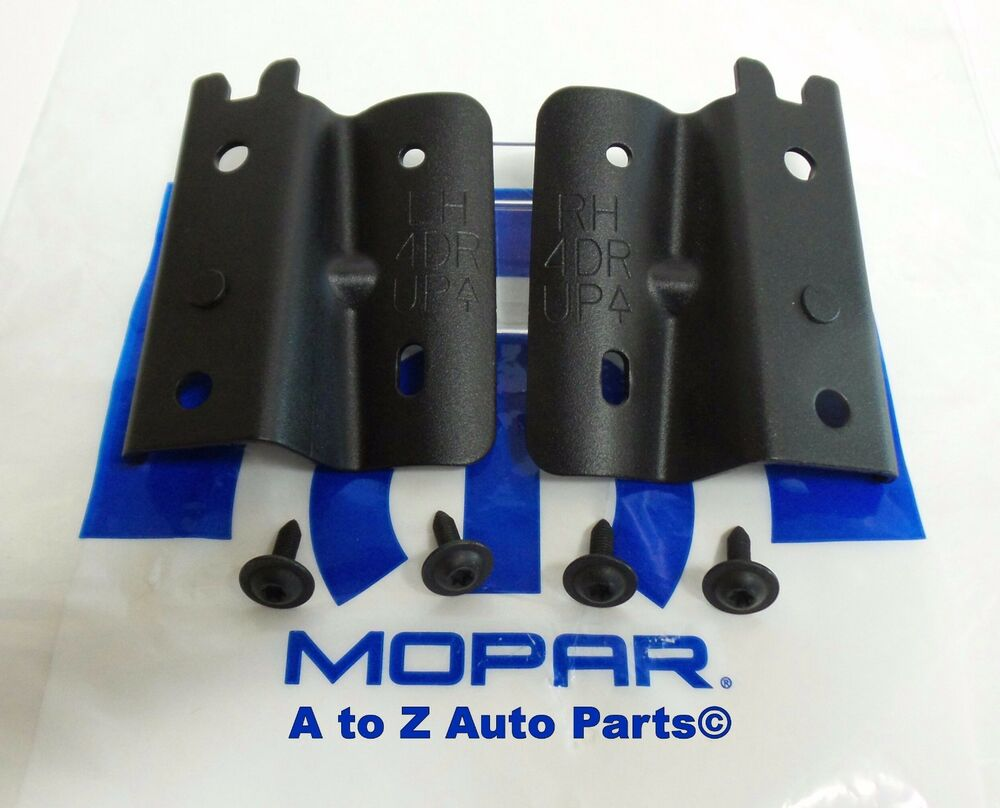 Jeep Soft Top Parts >> NEW 2013-2018 Jeep Wrangler JK 4 DR Soft Top (LH & RH) Bow BRACKETS & SCREWS,OEM | eBay