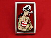 SAILOR PIN UP GIRL TATTOO RUM CIGARETTE ID IPOD CASE