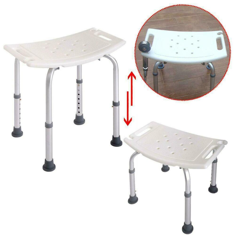 New Bath Shower Chair Adjustable Medical 8 Height Bench Bathtub Stool Seat White Ebay