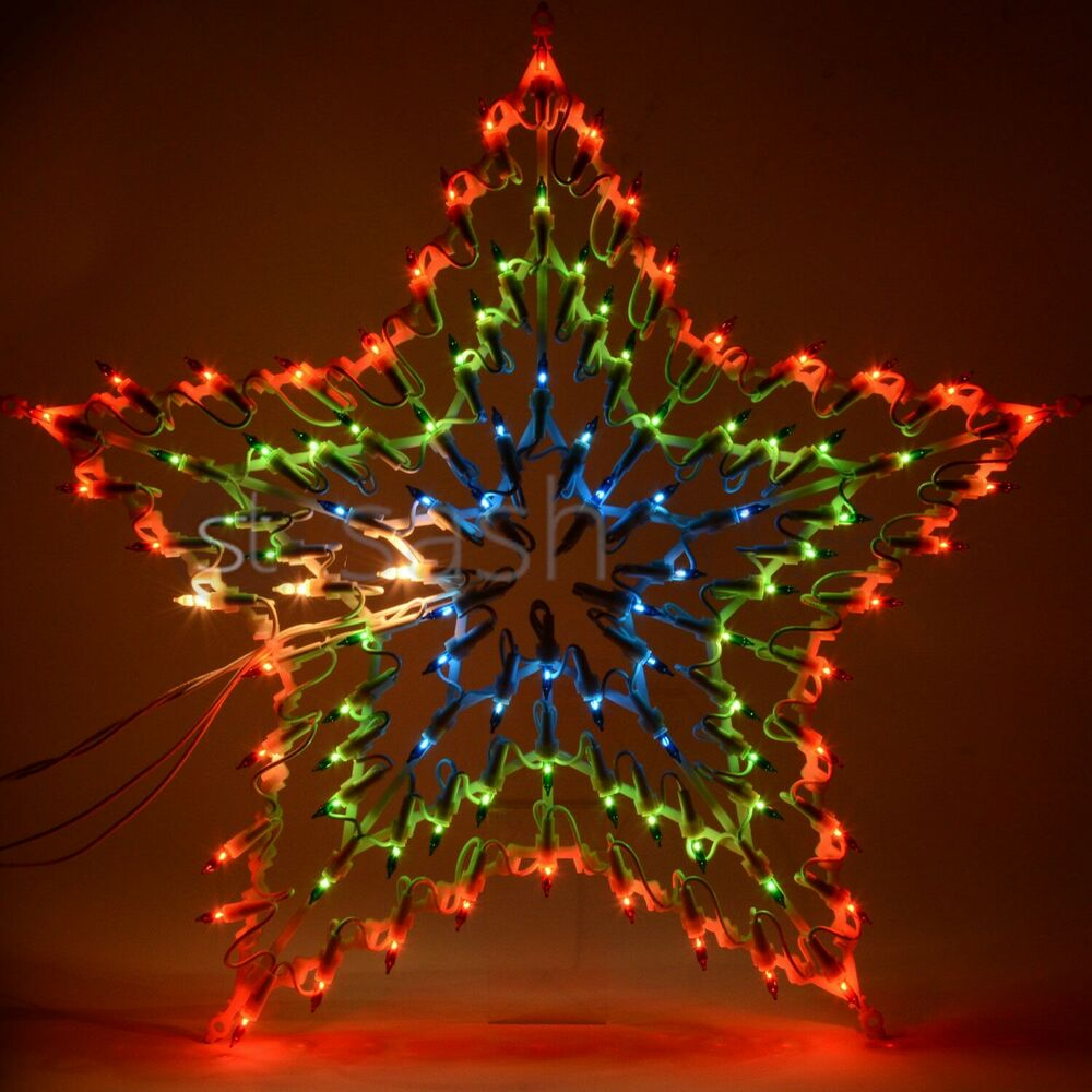CHRISTMAS MULTI COLOUR LED STAR SILHOUETTE WINDOW ...