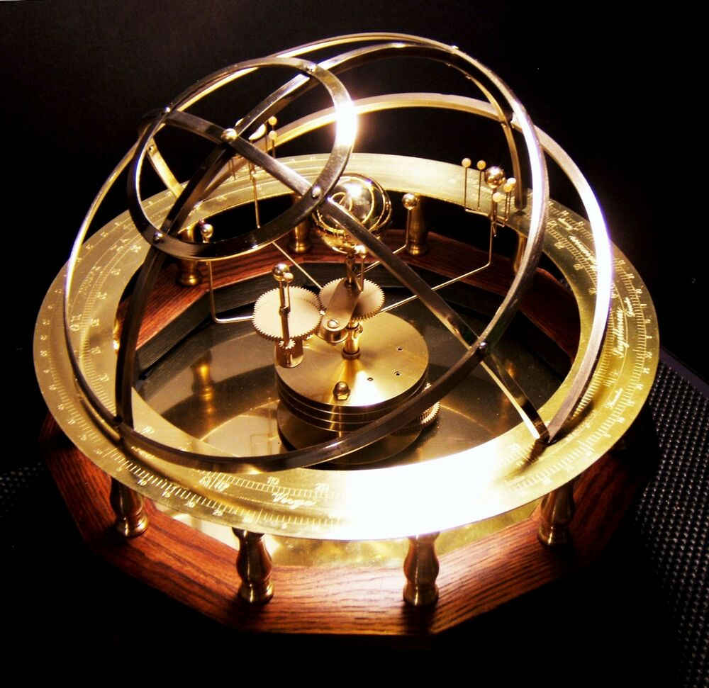 Grand Orrery 9 Planet Solar System Model Semi Precious