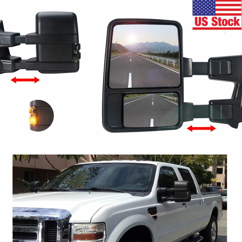 For 99 07 Ford F250 Super Duty Towing Mirrors Power Heated