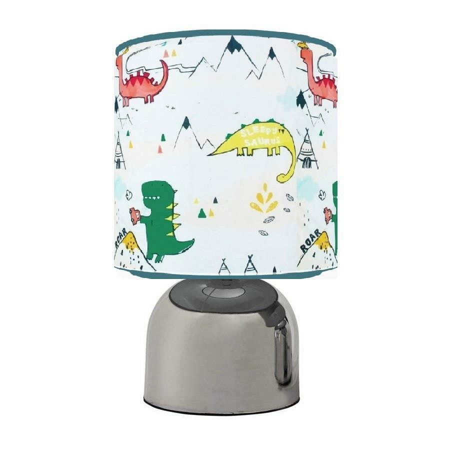 Dylan The Dinosaur Dino Touch Table Bedside Lamp Kids Room