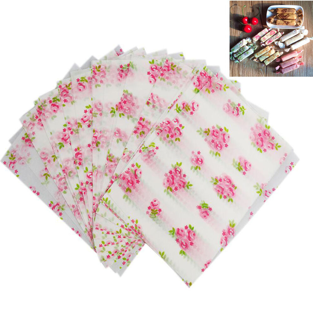 50 Sheets Flower Xmas Wedding Gift Candy Wrapping Paper ...