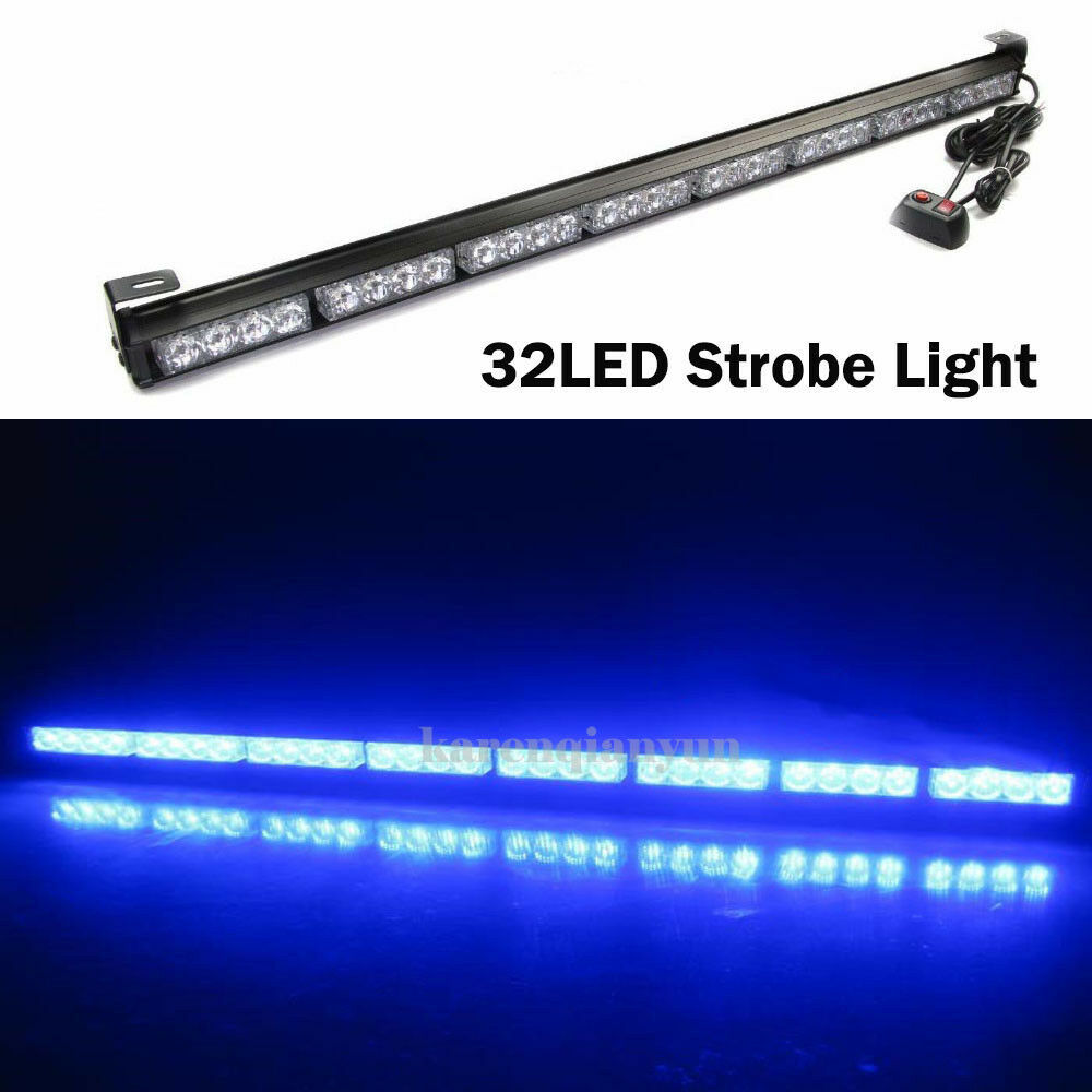 led traffic advisor emergency warning flash strobe light bar ebay. Black Bedroom Furniture Sets. Home Design Ideas