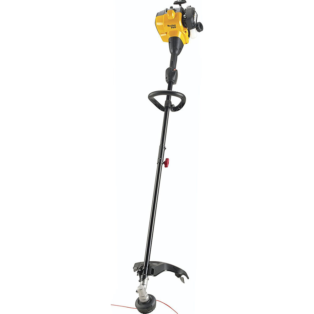 poulan pro pp28ld 2 stroke 28cc dual line 17 u0026quot  straight shaft string gas trimmer