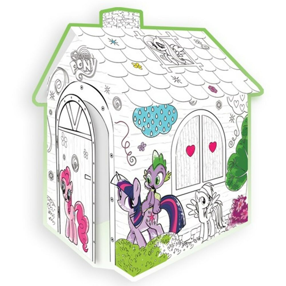 my little pony spielhaus aus pappe pappspielhaus zum bemalen haus karton ebay. Black Bedroom Furniture Sets. Home Design Ideas