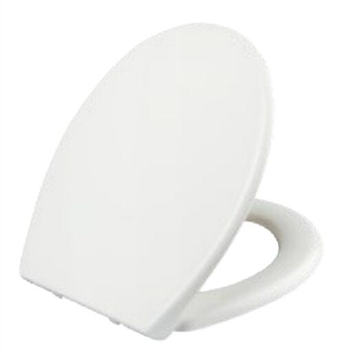 Universal Soft Close WC Toilet Seat Quick Release Top Fix Hinges Oval Easy Cl