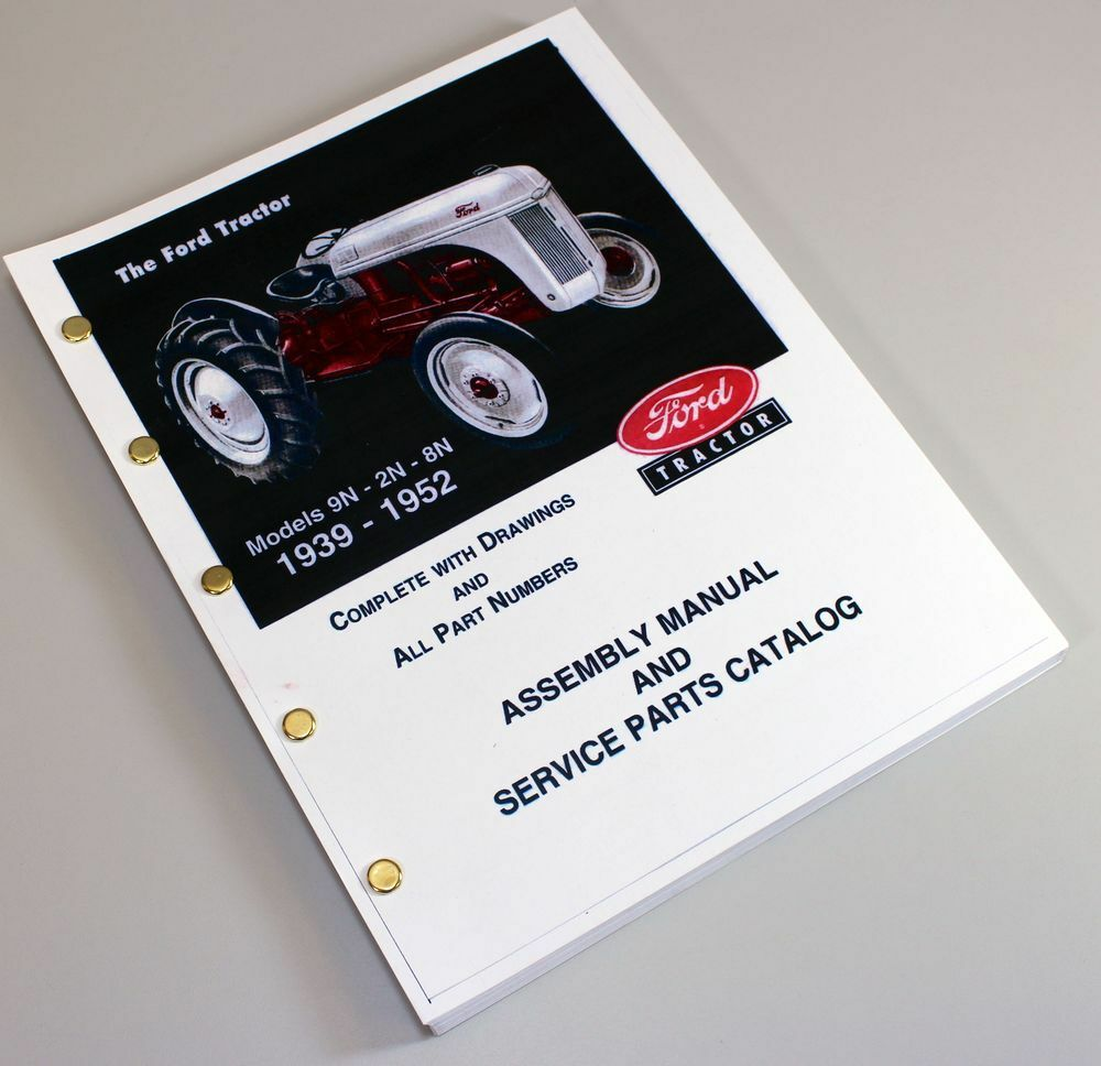 ford 9n 2n 8n tractor assembly parts manual catalog book