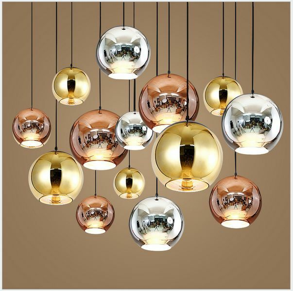 Glass Mirror Ball Ceiling Pendant Light Modern Tom Dixon