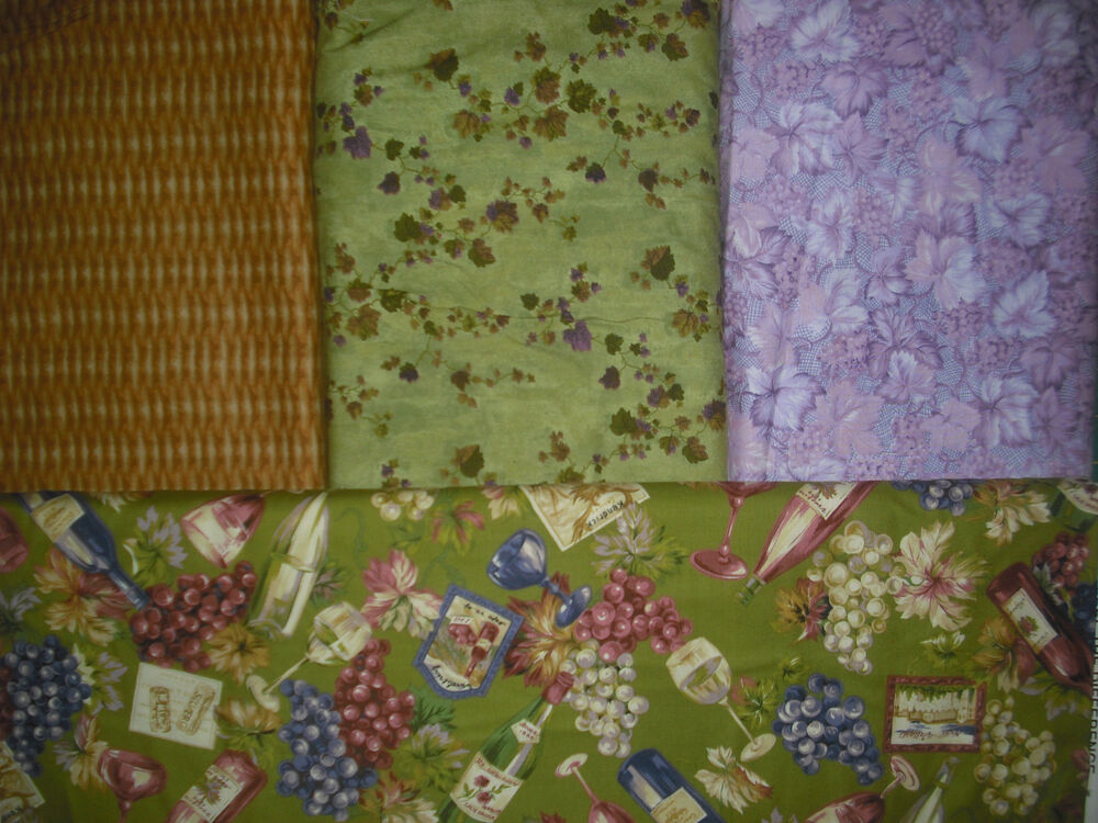 Stack The Deck 4 Placemat Quilt Sew Fabric Kit Wine