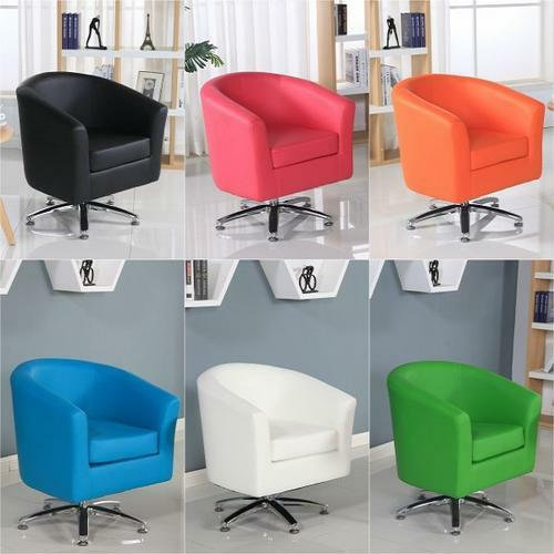 DESIGNER LEATHER SWIVEL TUB CHAIR ARMCHAIR DINING LIVING ...