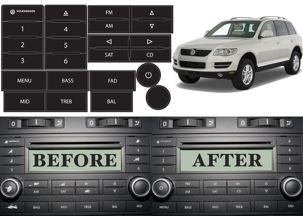 replacement radio button stickers for 2004 2009 volkswagen. Black Bedroom Furniture Sets. Home Design Ideas