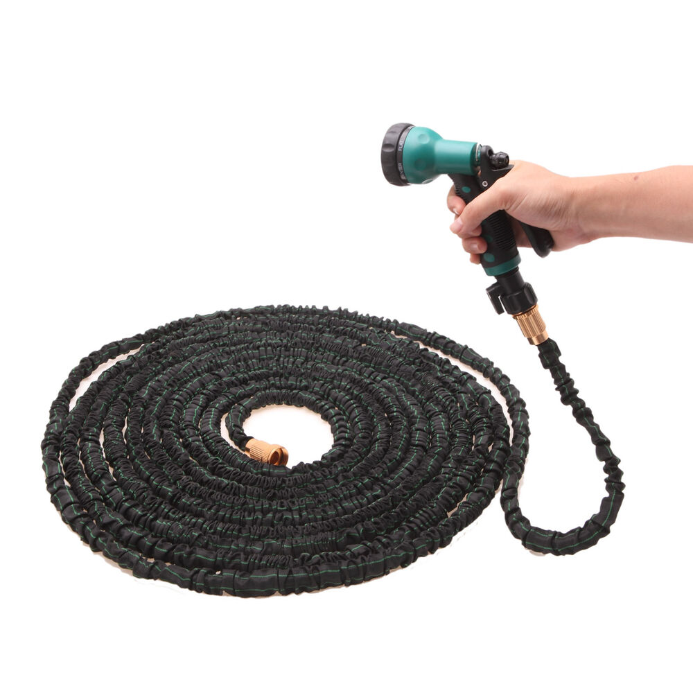 Ultimate 100 feet expandable flexible garden water hose reassuring version ebay Expandable garden hose 100 ft