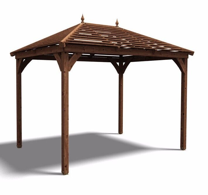 Gazebo Outdoor Garden Pavilion Wooden Gazebos Kit Hot Tub