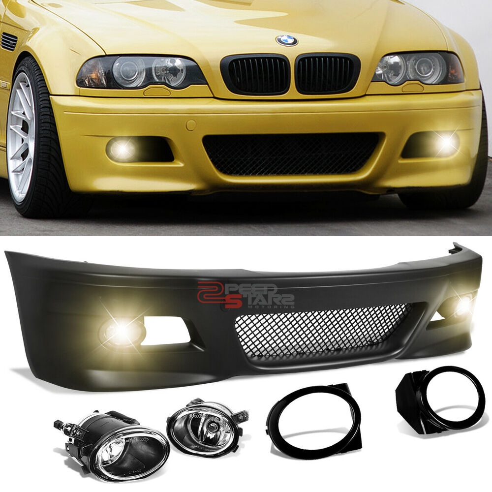 FOR 99-06 BMW E46 3-SERIES M3 M-SPORT STYLE FRONT BUMPER