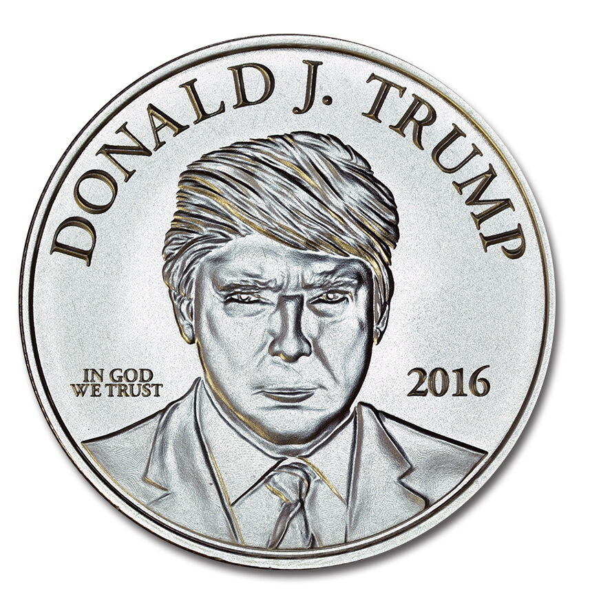 5 Day Only Sale Donald Trump 1 Oz 999 Pure Silver Coin