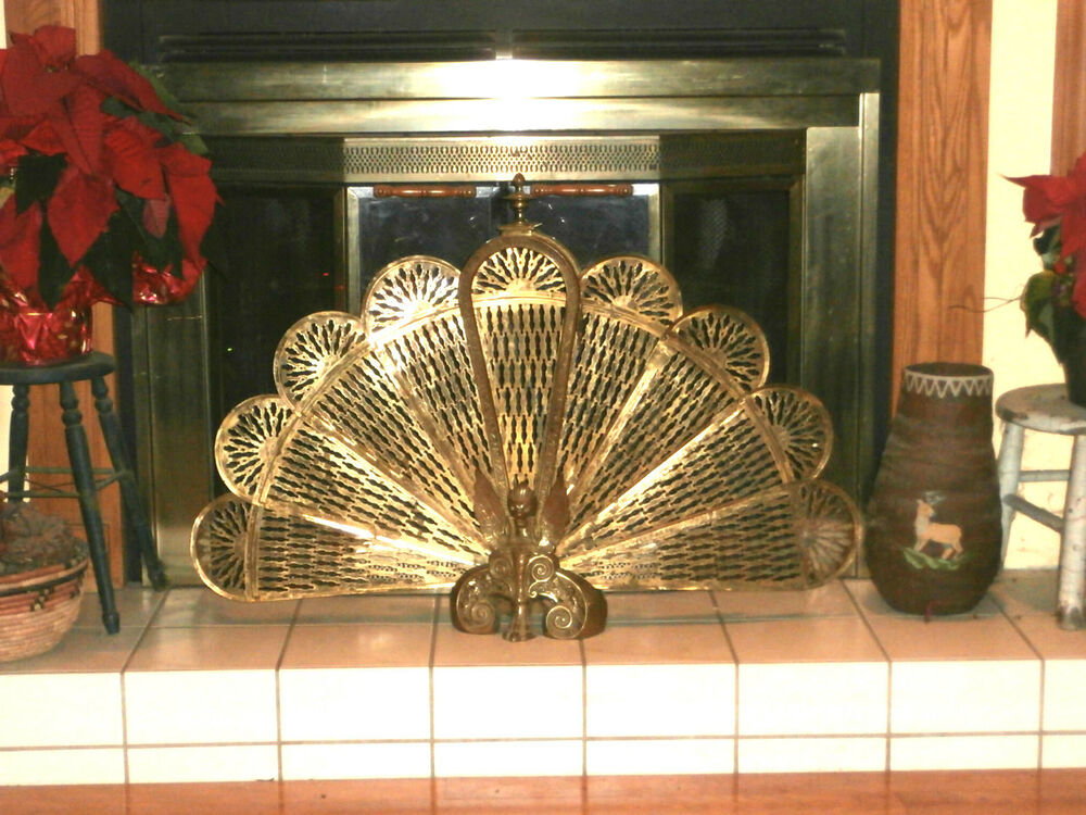 Vintage Gothic Gargoyle Ping FIREPLACE SCREEN Solid Brass