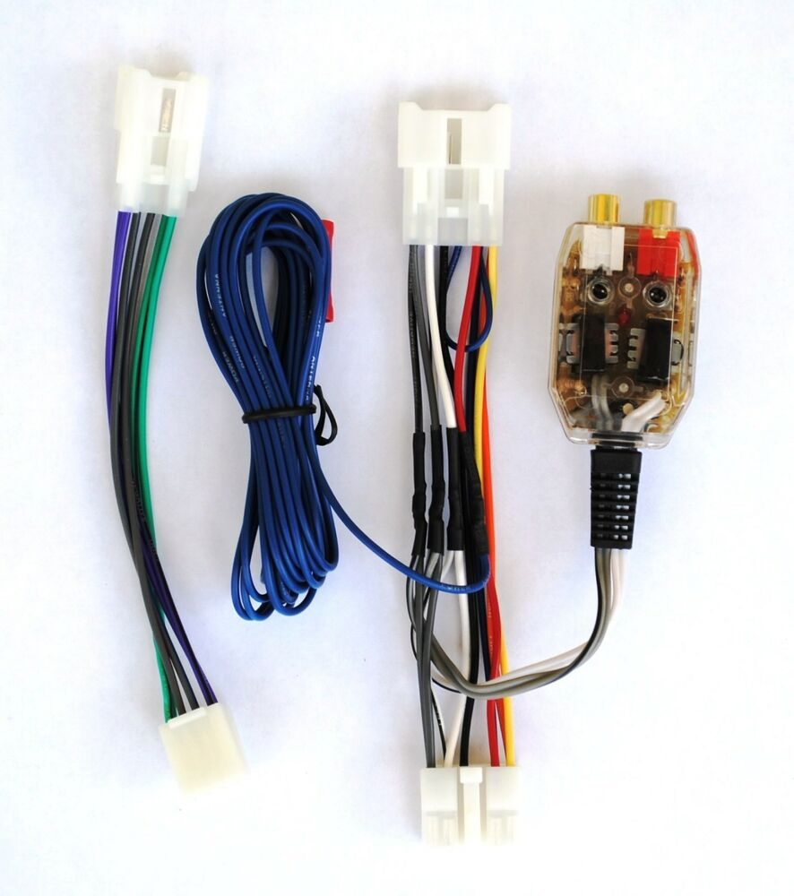 geo prizm radio factory radio add a amp amplifier sub interface wire harness inline converter