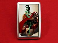 ZOMBIE PIN UP GIRL VINTAGE DRESS CIGARETTE ID IPOD CASE