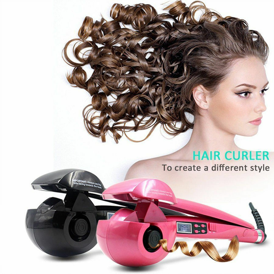 in style hair curler automatic hair styling curling curler iron roller tool lcd 6969
