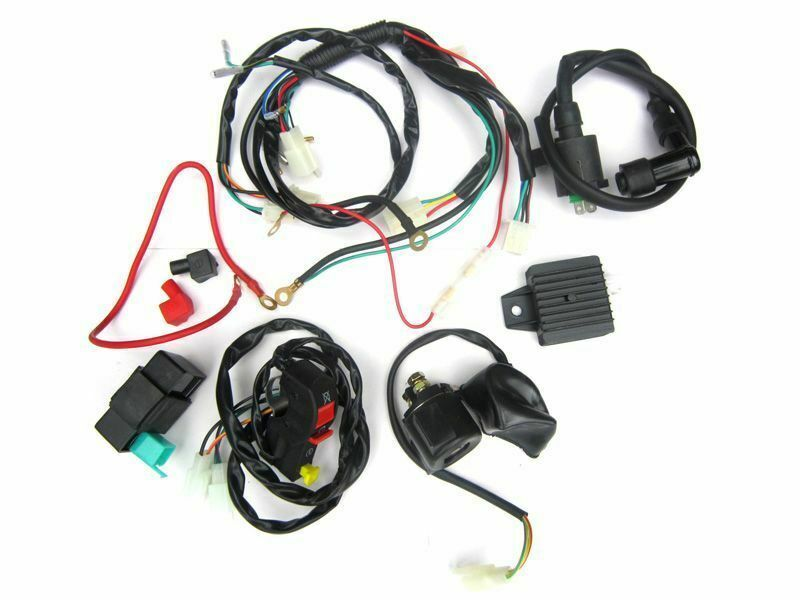 electric start wiring harness for pit bikes dirt bikes. Black Bedroom Furniture Sets. Home Design Ideas