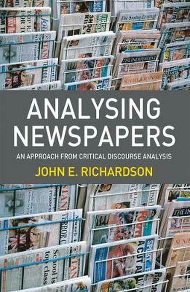 analysing newspapers an approach from critical discourse analysis pdf