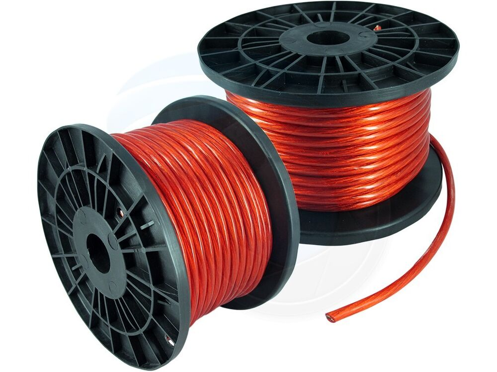 100ft 8ga 8awg cca red power cable wire heat resistance car audio roll ebay. Black Bedroom Furniture Sets. Home Design Ideas
