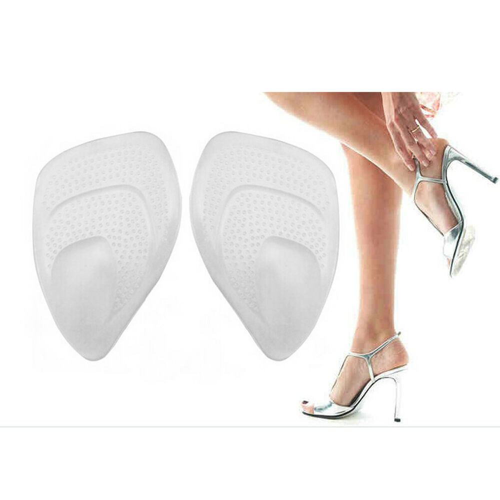 1//2//5//10 Pair High Heel Silicone Gel Cushion Insoles Pad Feet Shoe Foot Care OF
