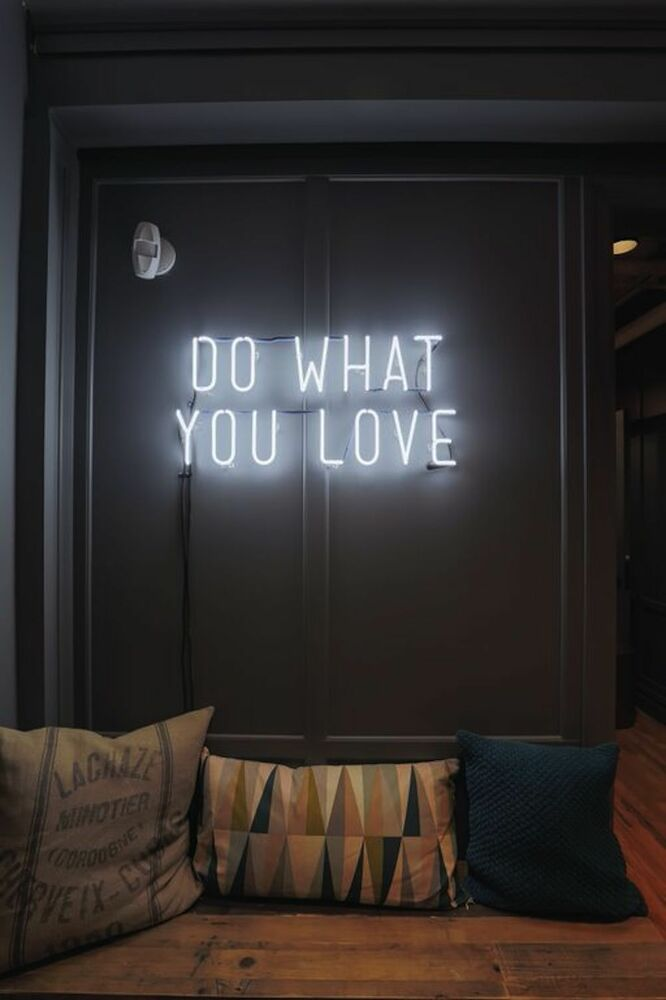 New do what you love neon art sign handmade visual artwork for Neon lights for rooms
