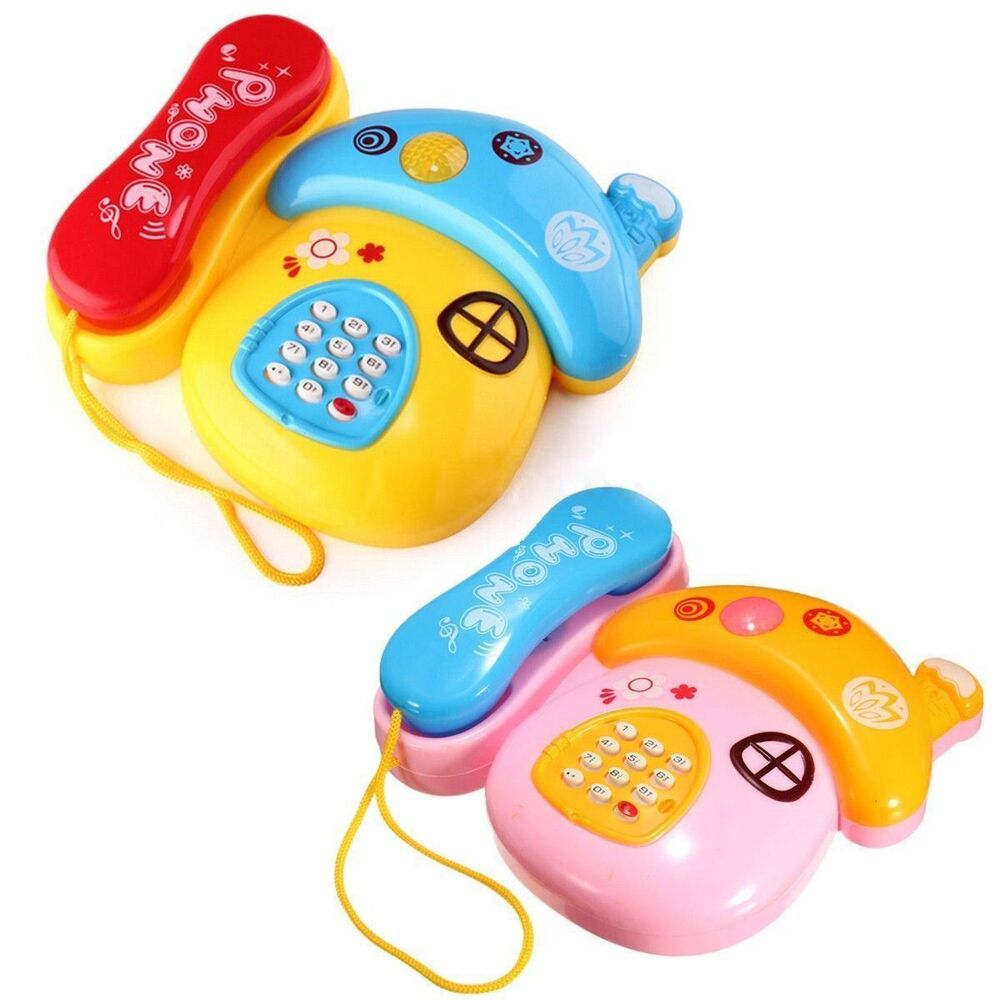 Toddler Educational Toys : Baby kids musical mobile phone for toddler sound