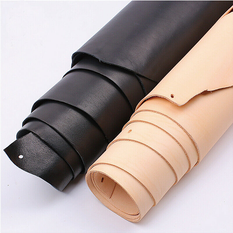 Natural leather sheet genuine cow leather craft piece for Leather sheets for crafting