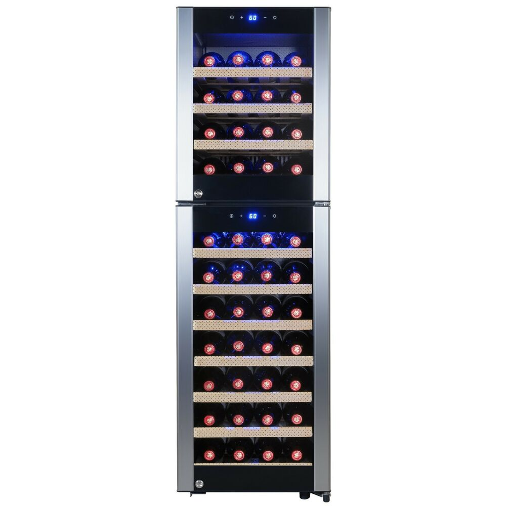 dual zone wine cooler 53 bottle dual zone compressor electric wine cooler 31169