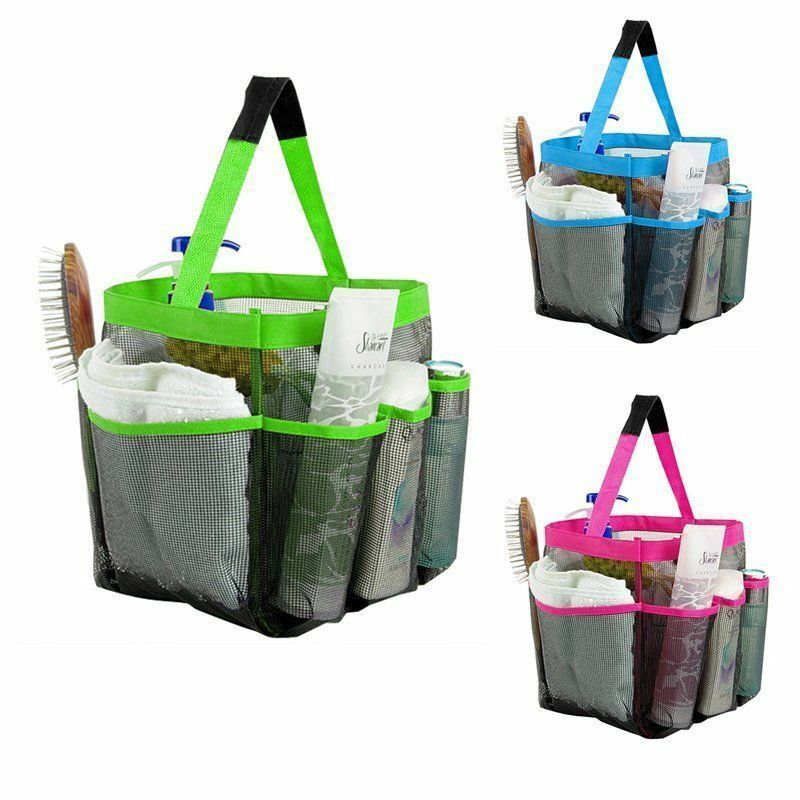 Dorm Bathroom Caddy: 8 Pockets Mesh Bathroom Organizer Shower Caddy Travel Tote