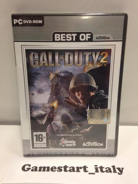 CALL OF DUTY 2 (PC) NUOVO SIGILLATO VERSIONE ITALIANA NEW SEALED VIDEOGIOCO GAME