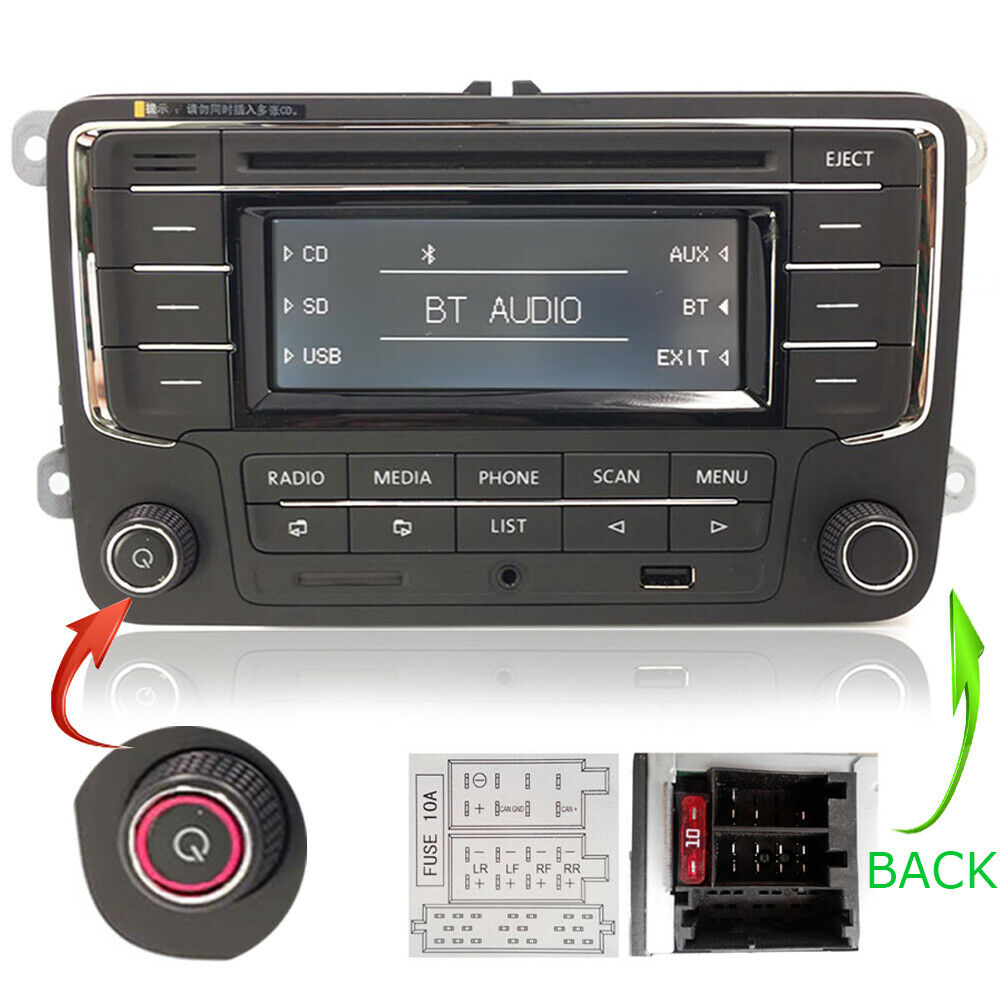 vw autoradio rcn210 cd usb aux bluetooth sd golf touran. Black Bedroom Furniture Sets. Home Design Ideas