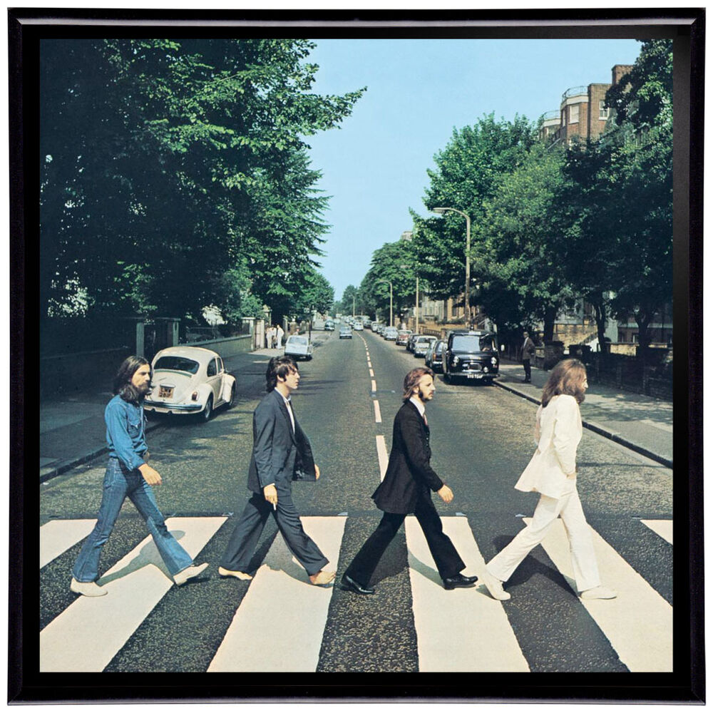 the beatles abbey road framed 12 lp album cover artwork includes vinyl record ebay. Black Bedroom Furniture Sets. Home Design Ideas