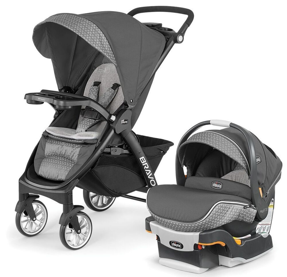 chicco bravo le trio travel system stroller w keyfit 30 zip car seat silhouette ebay. Black Bedroom Furniture Sets. Home Design Ideas