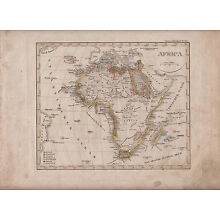 1841 Map of African Continent Hand Colored Stieler Schul Map Africa