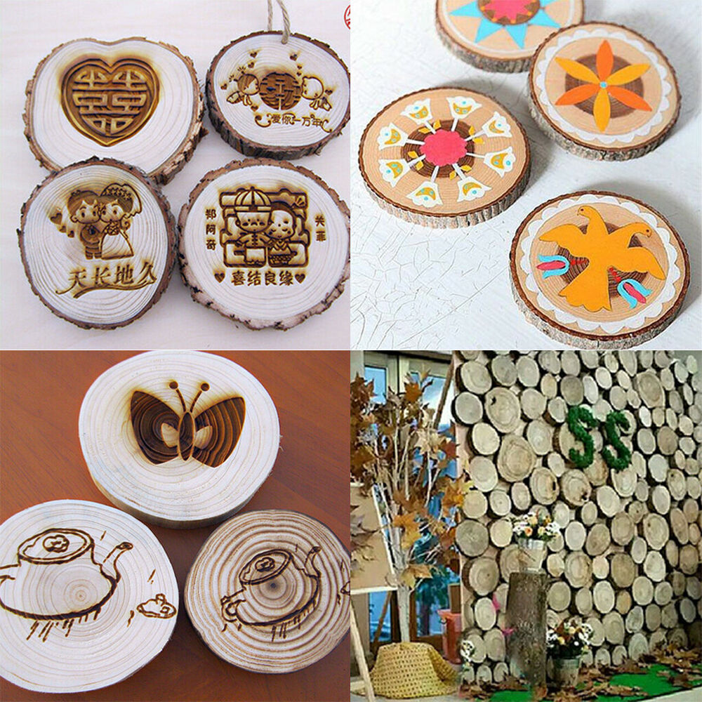 Crafts For Weddings Rustic: Round Wood Tree Slices Disc Rustic Crafts Wedding Party