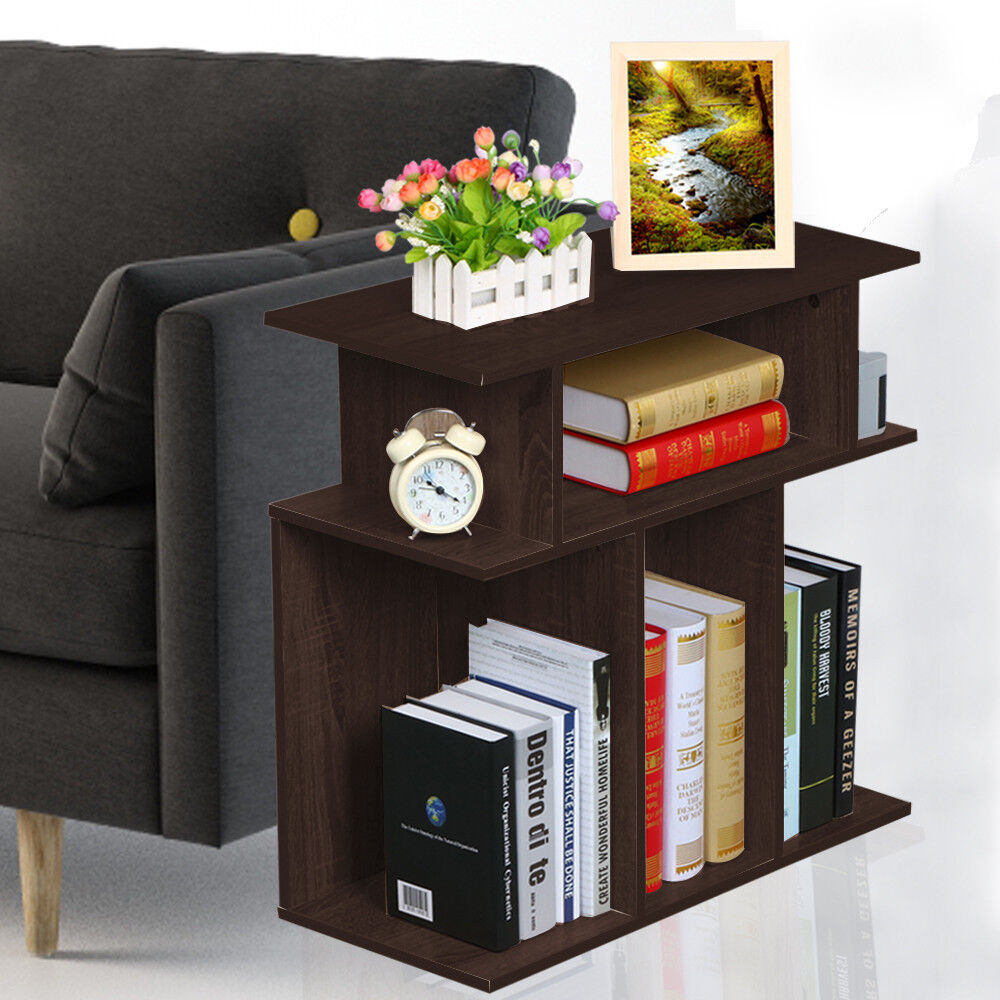 Small Accent Tables End Table With Storage Espresso Side