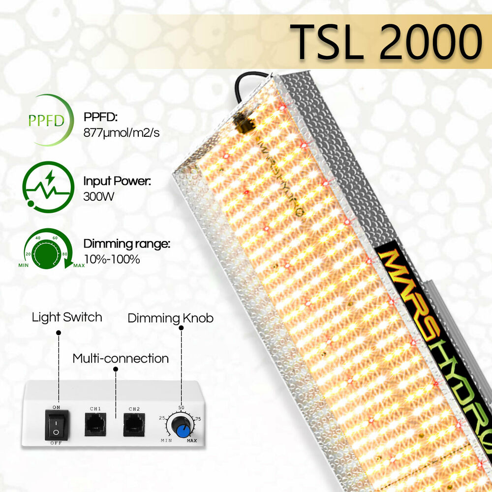 Led Lights Grow: Mars Hydro 600W LED Grow Lights Full Spectrum For Indoor