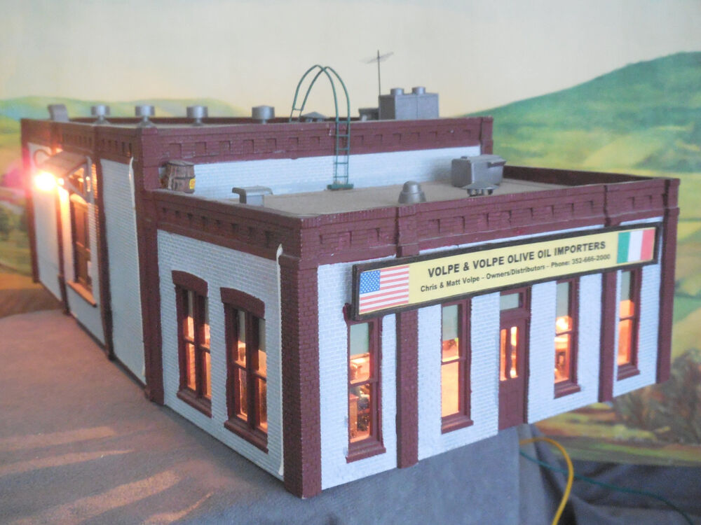 O scale scratchbuilt model building furniture store with Scale model furniture